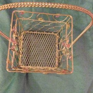 Accents - Antique wire basket with bead work